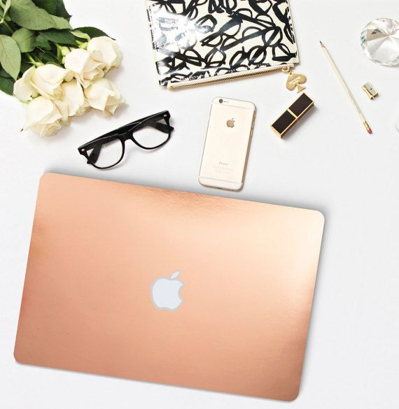 Process: Real Rose Gold Chrome Foil Vinyl, Laminated & Cut to precise Macbook Measurements. What is a Vinyl Skin? Clique Skins are low-profile,