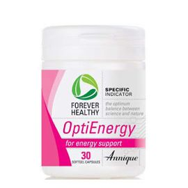 OptiEnergy – 30 Softgel capsules   For energy support  OptiEnergy is a potent antioxidant formula that naturally revives the body and mind. The combination of Co-Enzyme Q10 and L-Carnitine supports the production of energy in the body. http://www.anniquedayspa.co.za/eb_product/optienergy-30-softgel-capsules/