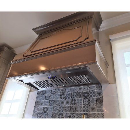 kobe cfm 36 inch wide stainless steel range hood insert with