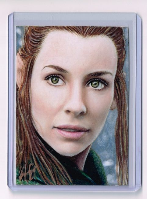 2016 ACEO Sketch Card TAURIEL Evangeline Lilly THE HOBBIT 1/1