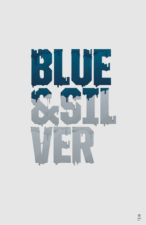 Ain't nobody messes with the Blue & Silver! For you fellow Columbiners...    NIKE x NFL / APPAREL by Nicolas Girard, via Behance