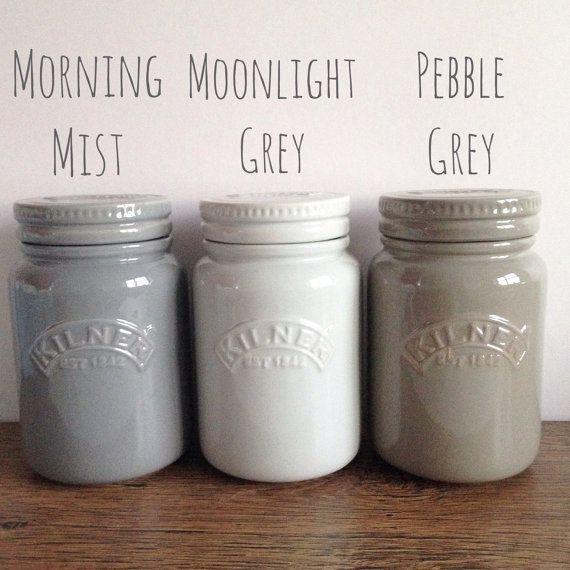 Kilner ceramic storage jar in shades of grey