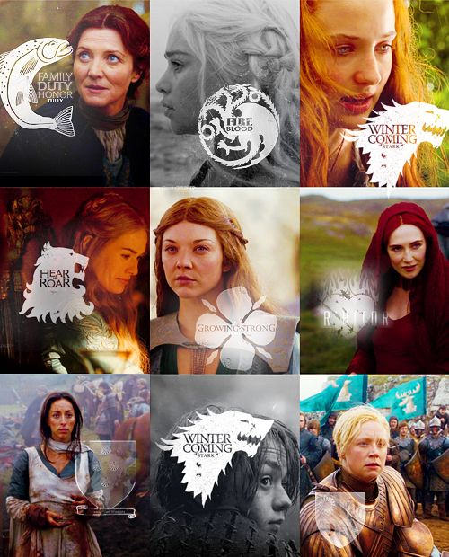 Where the power really lies - with the women of Game of Thrones. The women in this show are amazing!