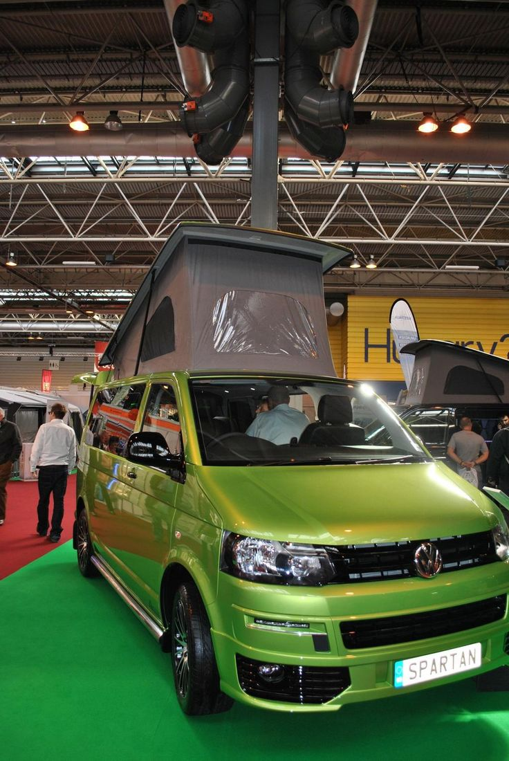 Glossop Awnings (@GlossopAwnings) | Twitter - Lovely lime green VW T5 at the NEC! Perfect for touring! Just needs a green awning to go with it now!
