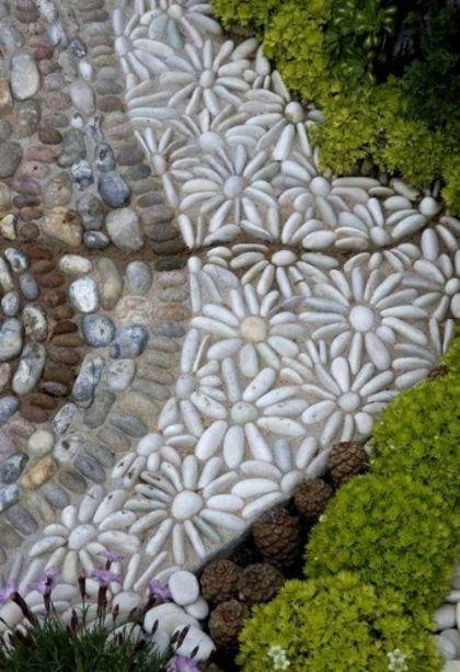 comment dcorer une alle de jardin avec des galets - Decoration De Jardin Avec Des Galets