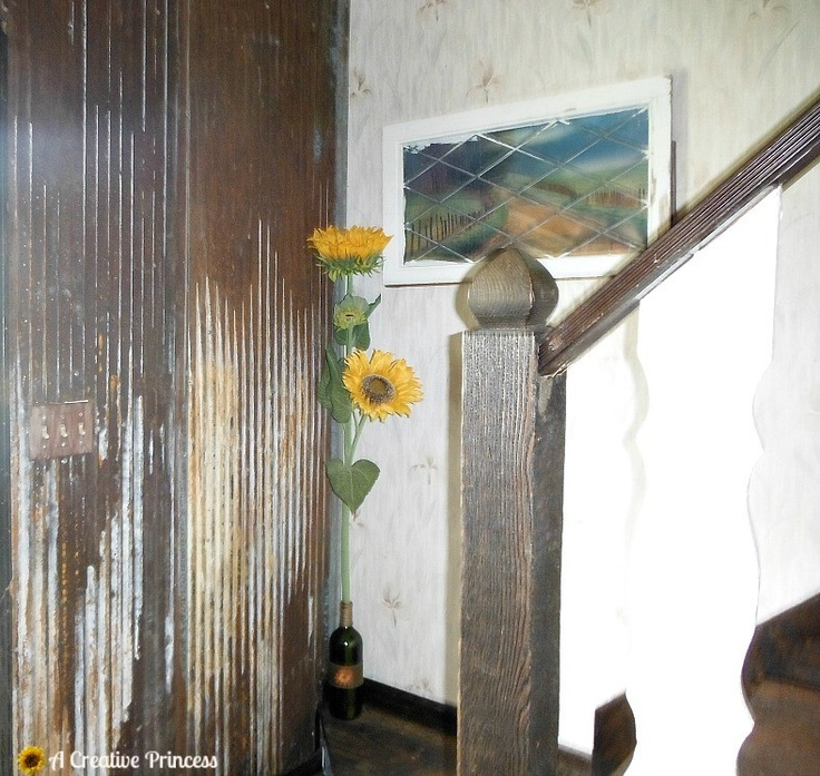 A Creative Princess: Our Barn Tin Walls Reveal