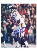 Autographed Jeff Siemon Minnesota Vikings 8x10 Photo