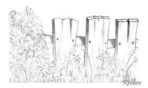 Image result for picket fence sketch