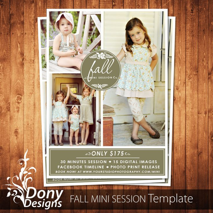 Fall Mini Session Photoshop template, Outdoor Mini Session Photography Marketing board -  Instant Download BUY 1 GET 1 FREE : ms-481 by DonyDesigns on Etsy