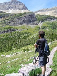 This is me, gazing at the mountains in Glacier National Park.