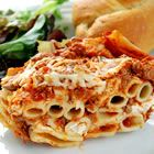 Baked Ziti I Recipe. Over 4,000 5 star reviews can't be wrong. Makes enough for 2 8x8 pans.
