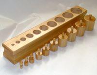 Cilindrii natur cu butoni setul 1 - 123 ron