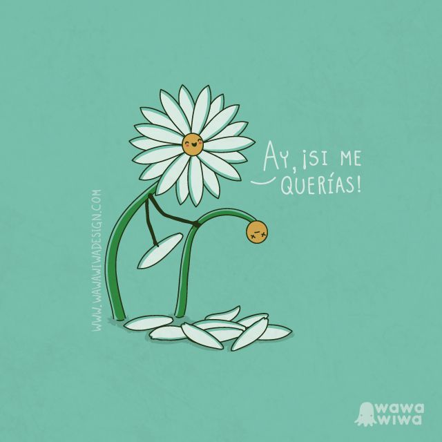 Me quiere, no me quiere by Wawawiwa Desing