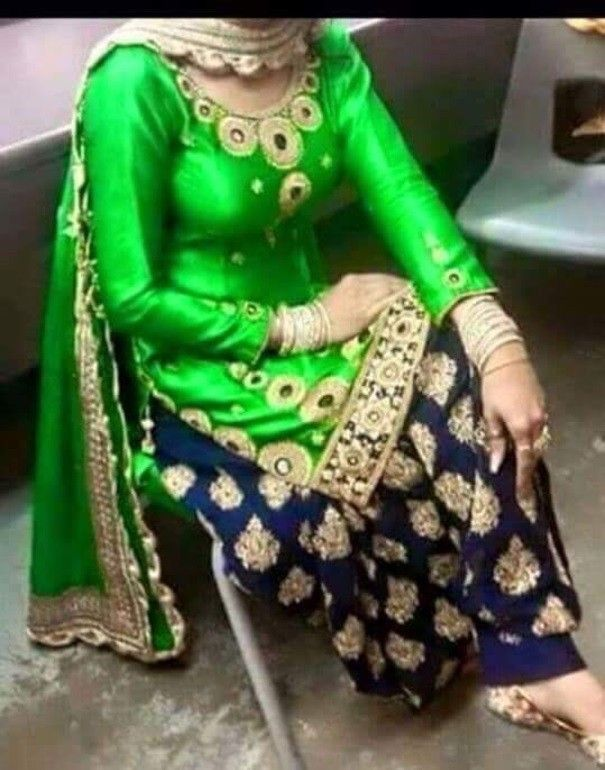 Cotton Machine Work Green Semi Stitched Patiala Suit - 207 at Rs 1025