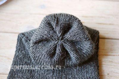 Вязание: шапка-носок
