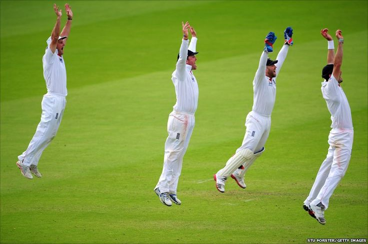 England destroying India in the cricket :)