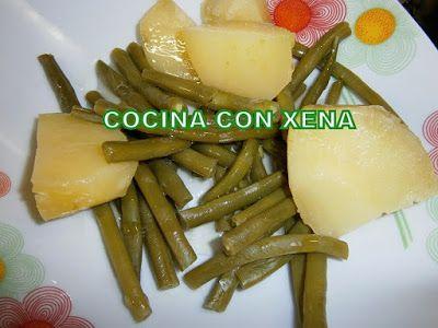 COCINA CON XENA: Judias verdes con patatas en Gm F