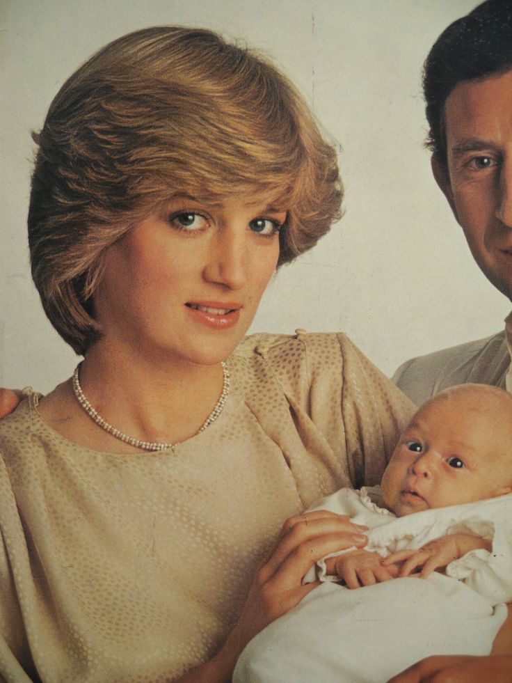 HRH Diana, Princess of Wales holds her new son Prince William in 1982