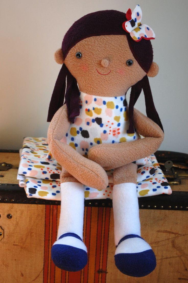 Spoonflower fleece emma doll