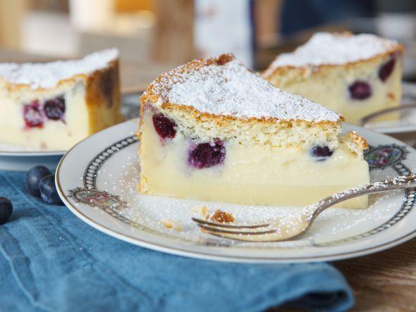 Magic Cake mit Blaubeeren