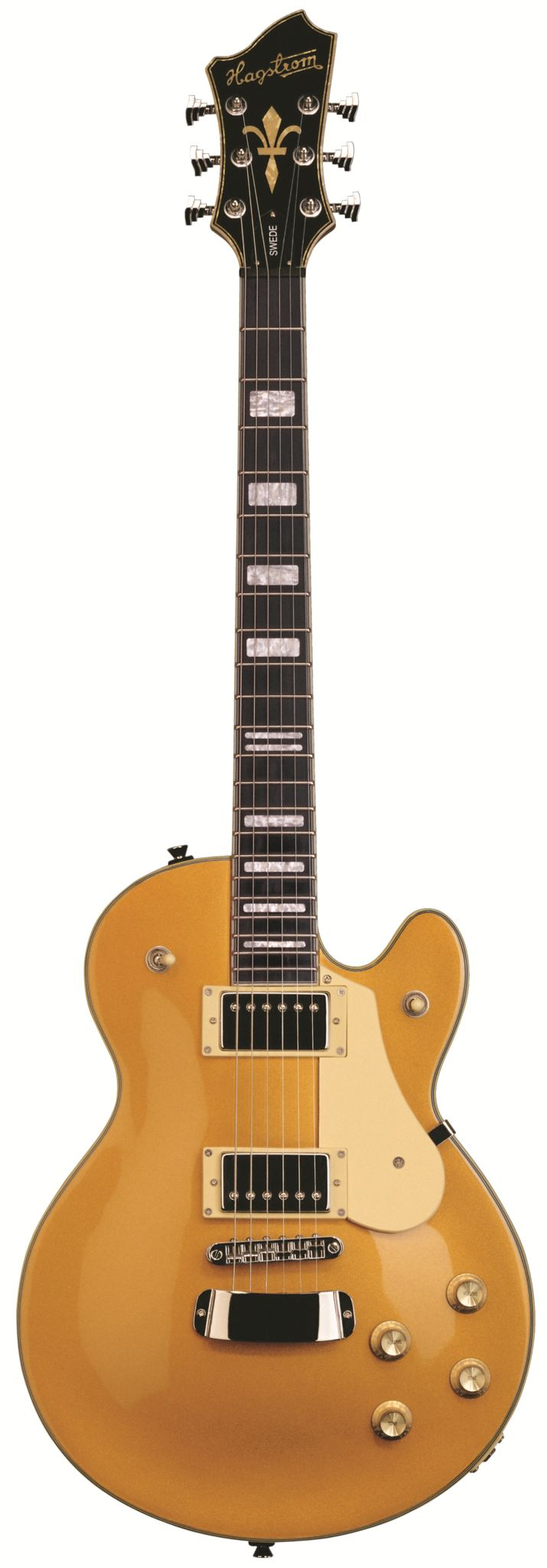 The Swede Model is a Hagtrom Classic with Fat tone; powerful attack; and two additional tone filters for a wide range of tones. Specifications - Body: Mahogany Body with Mahogany Top - Neck: Mahogany;