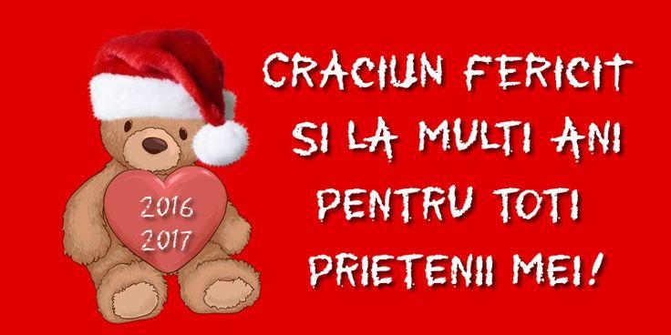 Felicitari de Craciun - Craciun fericit si la multi ani pentru toti prietenii mei! - mesajeurarifelicitari.com