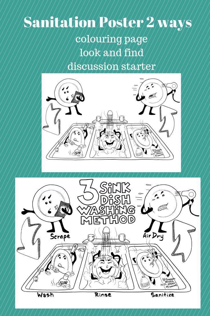 medium resolution of Dishwashing Worksheet   Family and consumer science
