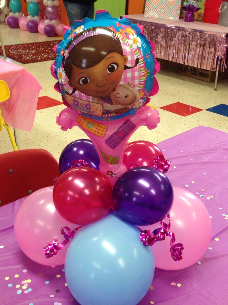 Childs table balloon centerpiece doc mcstuffins party by - Decoracion para foto ...