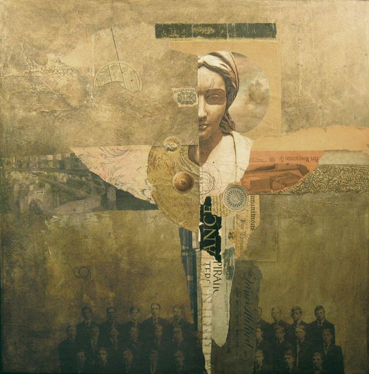 """Ordination""(Collage, 24″ × 24″)/ by Dick Allowatt"
