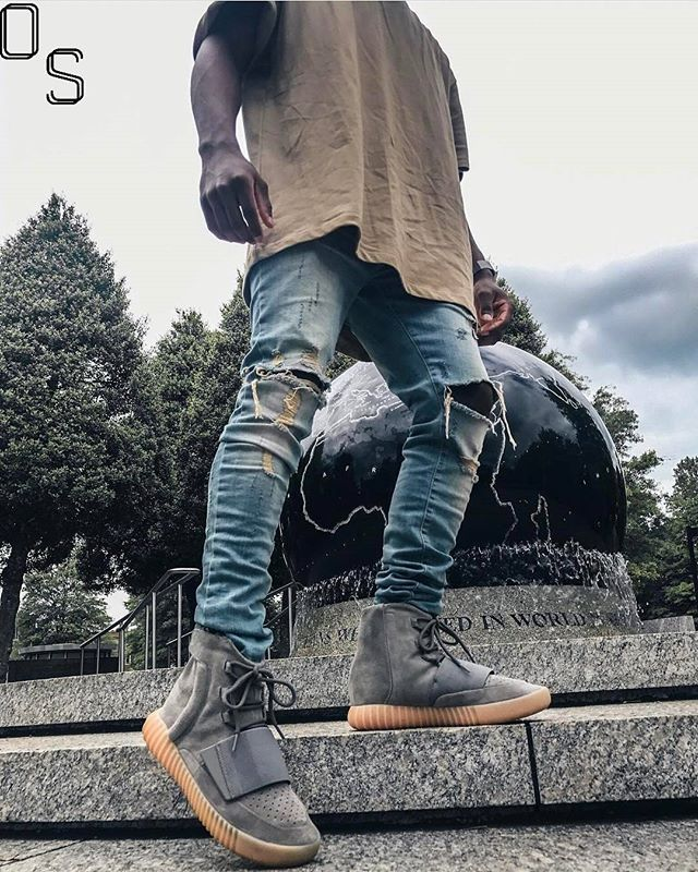 WEBSTA @ outfitsociety - Via @Hypedhaven: Rate The Outfit 0-10.#OutfitSociety @aaronvick.FOG TeeRepresent Jeans and Adidas Yeezy Boost 750