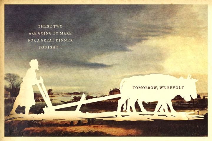 Tomorrow We Revolt silhouette art by Wilhelm Staehle