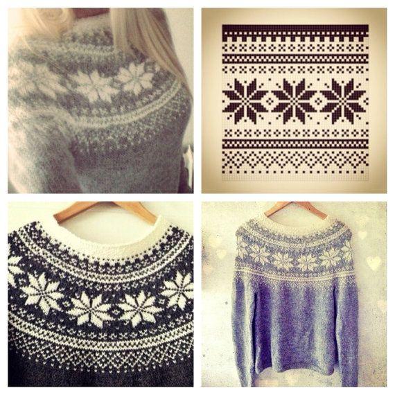Beautiful Norwegian Sweater Pattern - Digital Download PDF - Feminine - Traditional