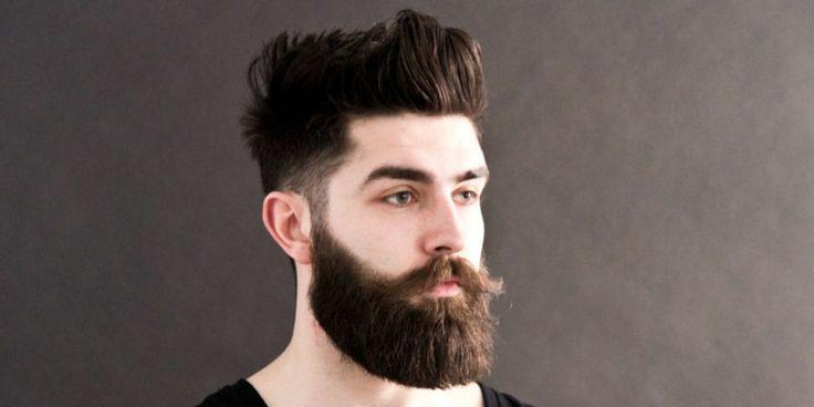 peinados modernos para hombres hipster con barba