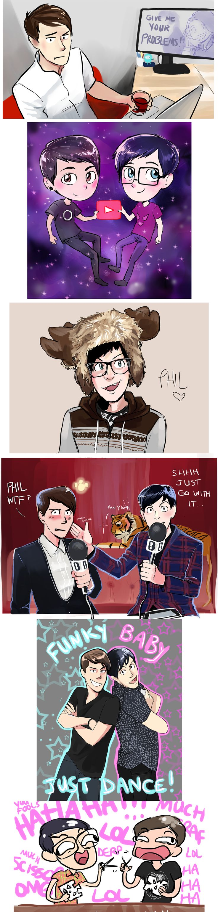 dan and phil five nights at freddy's - Google Search Like & Repin. Noelito Flow. Noel Music. | @ashiepop67
