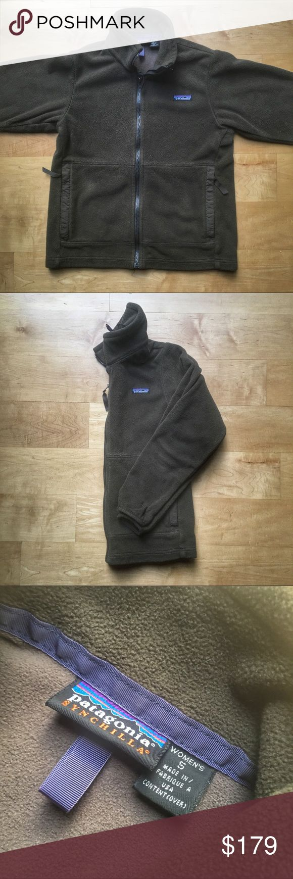 PRICE FIRM - Vintage Patagonia Synchilla Jacket PRICE IS FIRM - Vintage Patagonia Fall 2001 Synchilla Fleece Zip-up Jacket.  Pre-owned in excellent condition.  Size small.  Color is a greenish brown. See something you like but it's not here next week? We sell in store and across multiple platforms, so items go quick! If you're interested, act on it before you lose it Patagonia Jackets & Coats