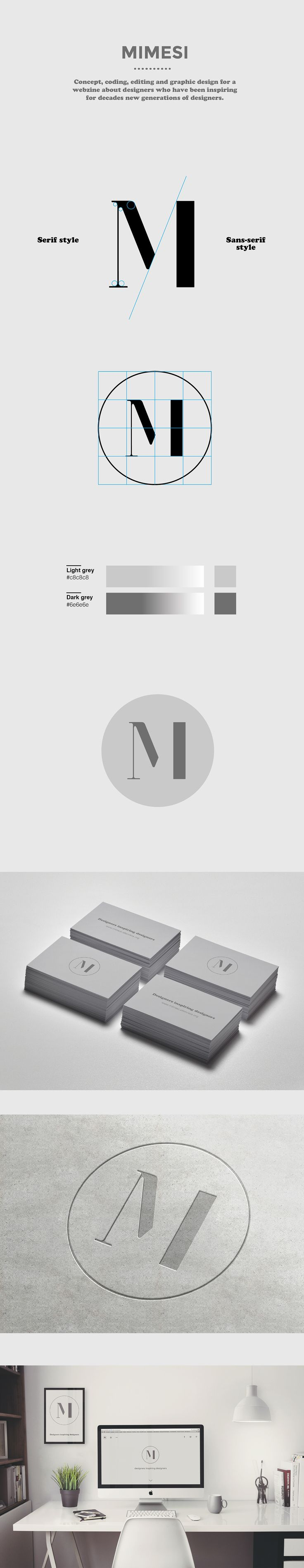 Mimesi - webzine for designers on Behance. #logo #design #grid #construction #M #Mimesi