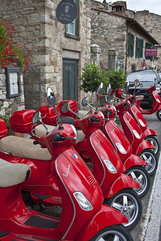 You can never have enough red Vespas...