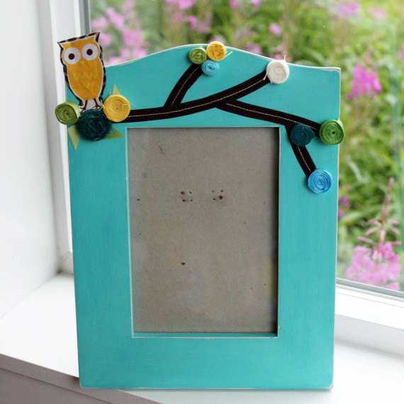 5 x 7 Owl Frame  Maybe table decorations with photo of baby?