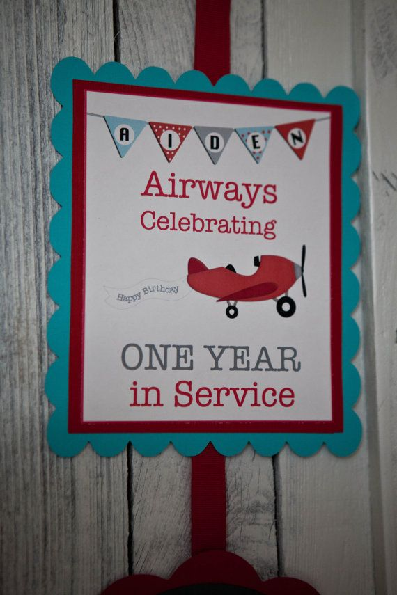 Airplane Welcome Sign Birthday Party Banner by CupcakeDream, $15.00