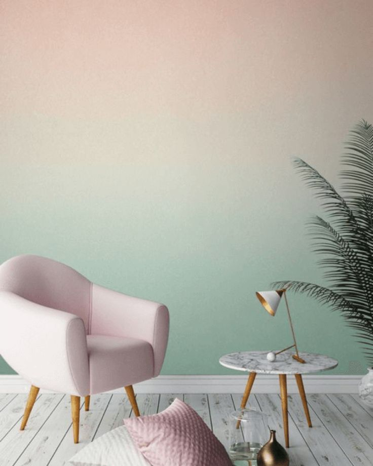 Ombre pastel living room wall - Living Room Decor Ideas