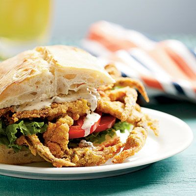 Soft-Shell Crab Sandwiches with Spicy Rémoulade Recipe - 39 Mouth-Watering Crab Recipes - Coastal Living