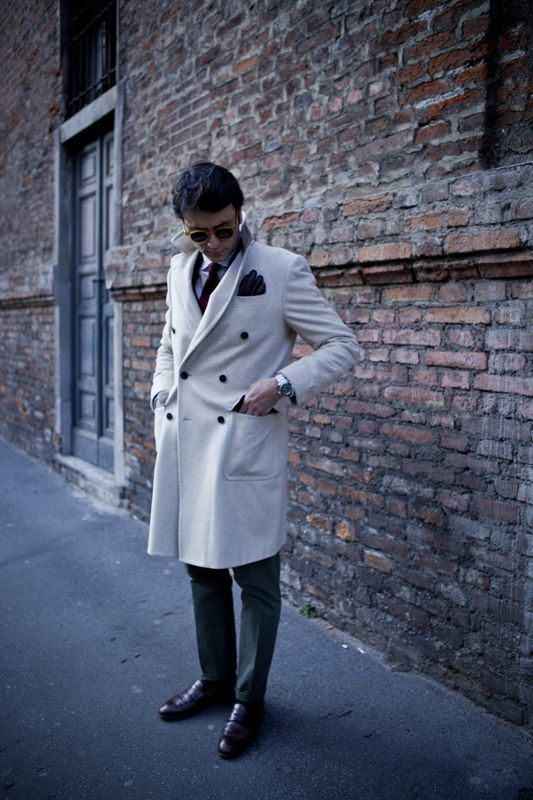 "Fourth picture in Fabio Attanasio's blog post ""MERANO COAT"". Model: Fabio Attanasio."