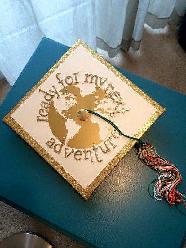 World Travel Graduation Cap. 30+ Awesome Graduation Cap Decoration Ideas.
