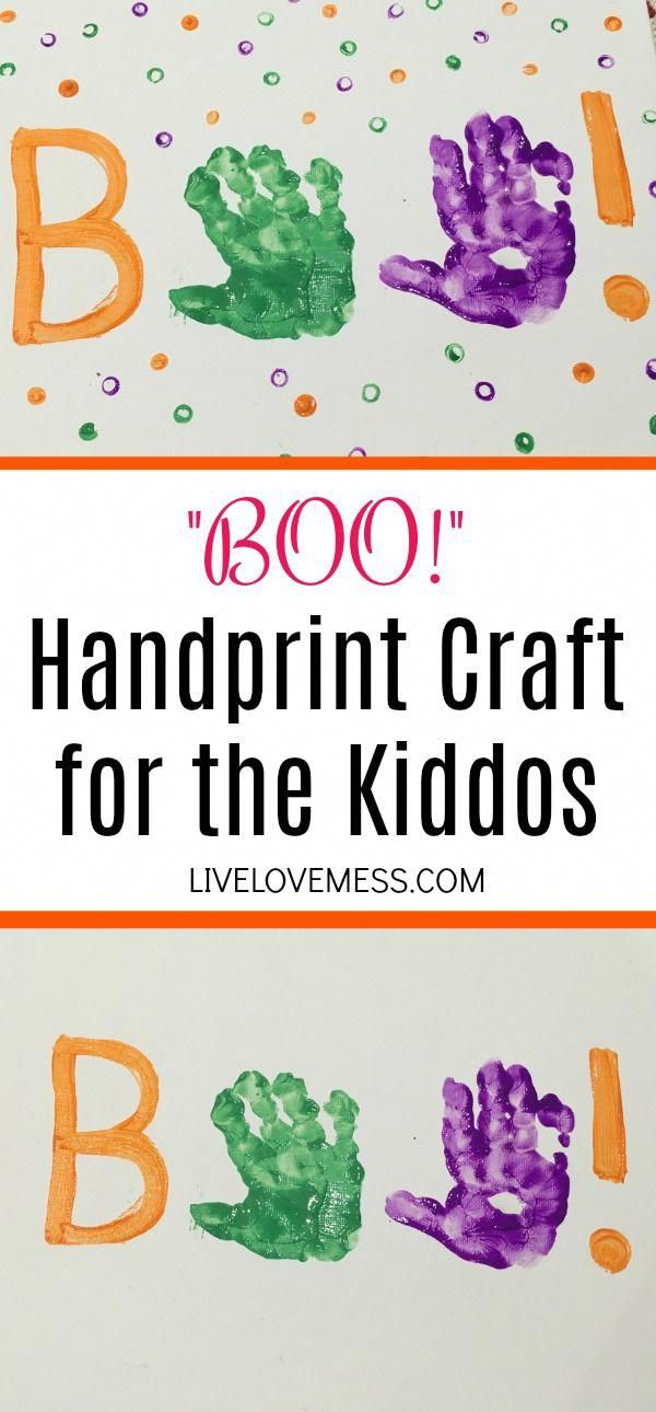 """""""BOO!"""" Handprint Craft for the Kiddos"""