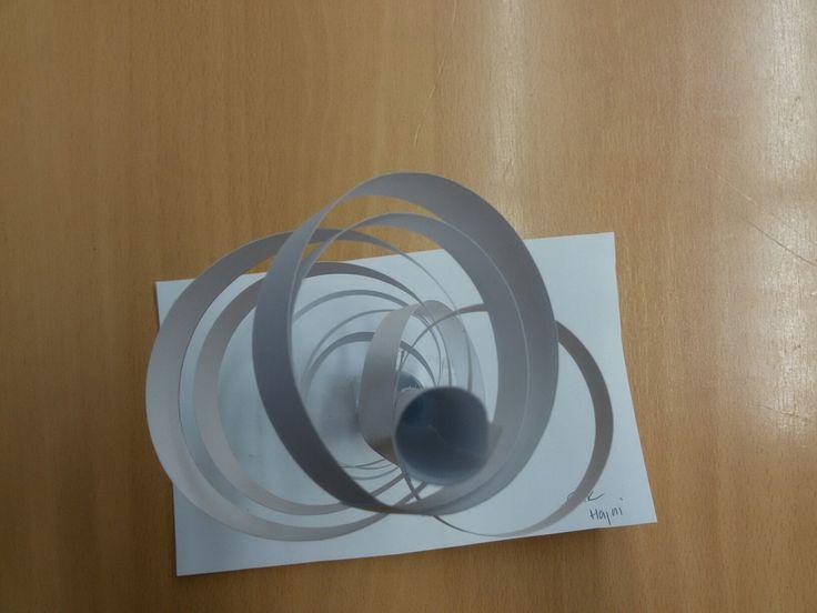 Paper structure folding building st. Work sec. School