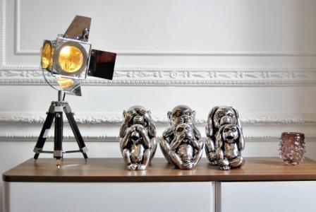 The spotlight's on these cheeky metallic monkies.
