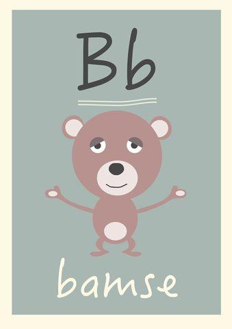 B alfabetdyr http://www.barneplakat.no