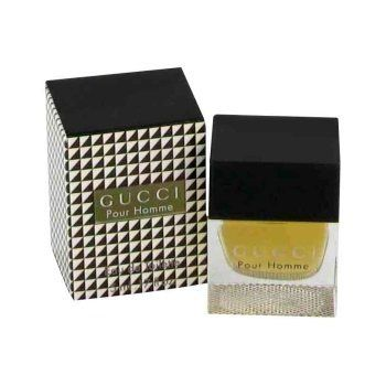 Gucci Pour Homme by Gucci Mini EDT .17 oz by Gucci. $11.48. For Men. 100% Authentic & Original. Gucci Pour Homme is a mixture of timeless classic and modern. The top notes is a blend of White Pepper, Ginger, Pink Bay. With the middle notes of Papyrus Wood, Orris Rhizome and the base notes are Amber, Leather, Vetiver, Olibanum.