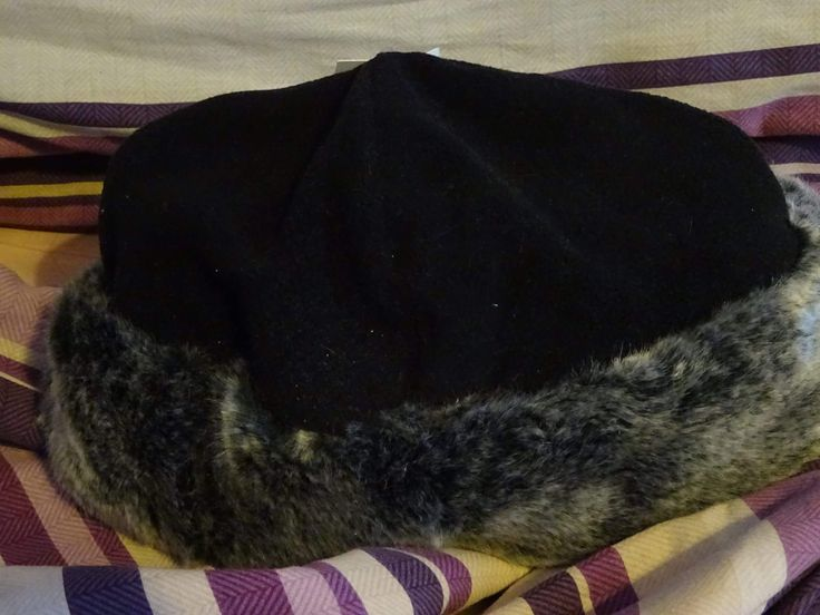 13th February 2017 - third hat in your closet. My trimmed winter hat.