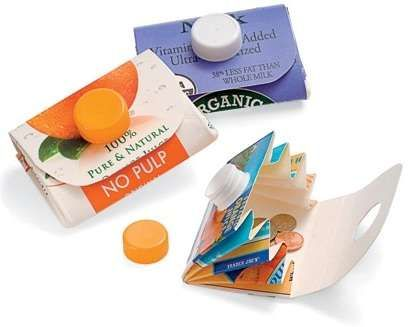 Recyclable Crafts: Carton Wallet   Recycled Crafts - Recyclable Crafts for Kids